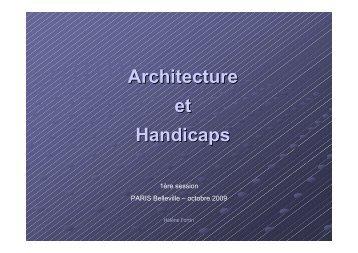 Présentation H. Fort.. - Ecole Nationale Supérieure d'Architecture de ...