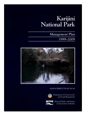Karijini National Park - Department of Environment and Conservation