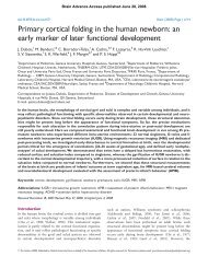an early marker of later functional development - Brain