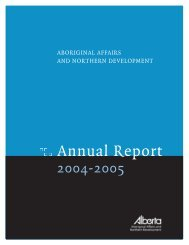 Annual Report - Alberta Aboriginal Relations - Government of Alberta