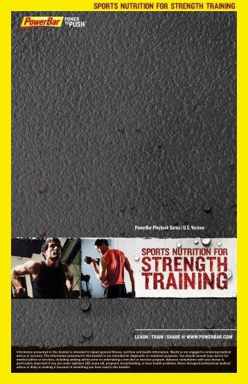 sports nutrition for strength training - PowerBar.Com
