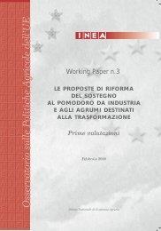 Le proposte di riforma del sostegno al pomodoro da industria ... - Inea