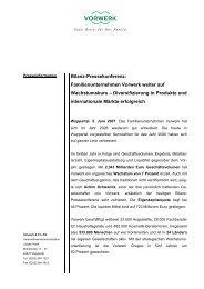 Bilanz-Pressekonferenz: Familienunternehmen Vorwerk weiter auf ...