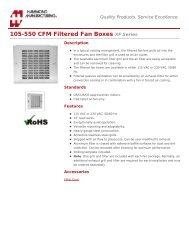 105-550 CFM Filtered Fan Boxes (XF Series) - Hammond Mfg.