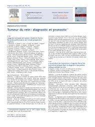 Tumeur du rein: diagnostic et pronostic - Urofrance