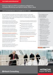 Hitachi Consulting NI14 event brochure