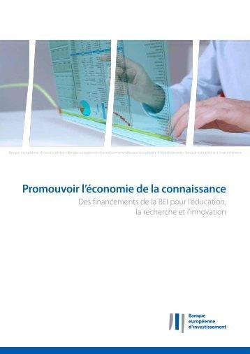 Promouvoir l'économie de la connaissance - Des financements de ...