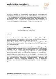 zwölf Thesen - Verein Berliner Journalisten e.V.