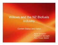 Willows and the NZ Biofuels Industry - Bioenergy Association of New ...