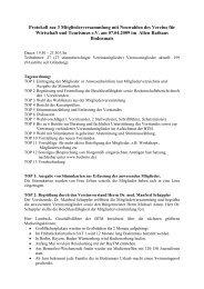 Protokoll zur 3 Mitgliederversammlung mit Neuwahlen ... - Bodwito.de