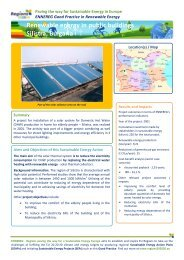 Renewable energy in public buildings Silistra ... - Regions 202020