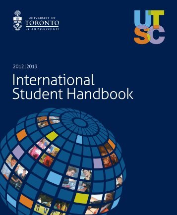 International Student Handbook - University of Toronto Scarborough