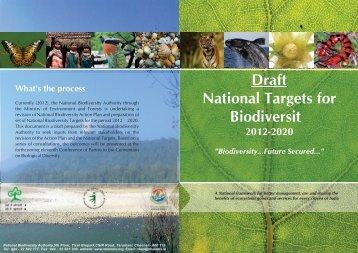 Draft Brochure - National Biodiversity Authority