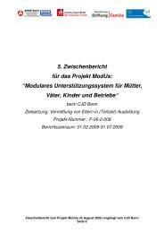 """5. Zwischenbericht für das Projekt ModUs: """"Modulares ... - CJD Bonn"""