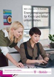 Energiemanagement für Klein - T-Mobile Business