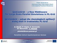 QosCosGrid – a New Middleware for Large-Scale ... - Projekt PL-Grid