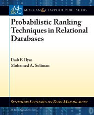 Probabilistic Ranking Techniques in Relational Databases - Morgan ...