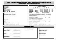 fiche d'inscription aux examens sued - annee universitaire 2012 ...