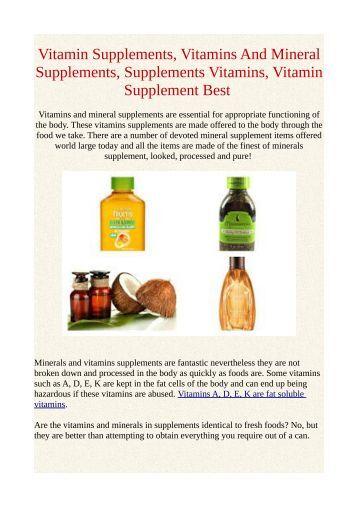 Vitamin Supplements, Vitamins And Mineral Supplements, Supplements Vitamins, Vitamin Supplement Best
