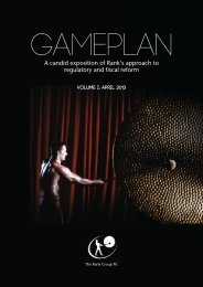 View our GamePlan - Rank Group