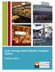Lake Oswego Retail Market Analysis Update - City of Lake Oswego