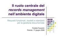 Il ruolo centrale del records management nell'ambiente digitale ...