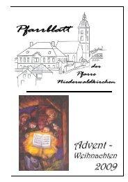 Pfarrblatt Advent 2009.pdf - Pfarre Niederwaldkirchen - Diözese Linz