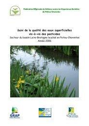 Suivi de la qualité des eaux superficielles vis-à-vis des pesticides