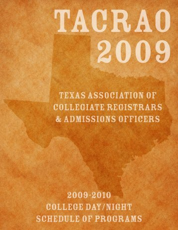 Texas Association Of Collegiate Registrars & Admissions Officers