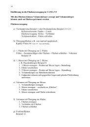 Einführung in die Flächenerzeugung in CATIA V5 Mit den Flächen ...
