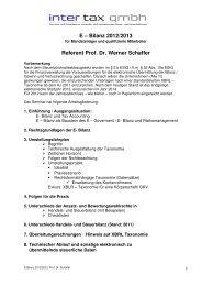E – Bilanz 2012/2013 Referent Prof. Dr. Werner ... - Inter Tax GmbH