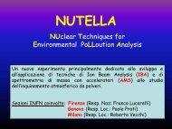 nutella - LABEC - Laboratorio di Tecniche Nucleari per i Beni Culturali