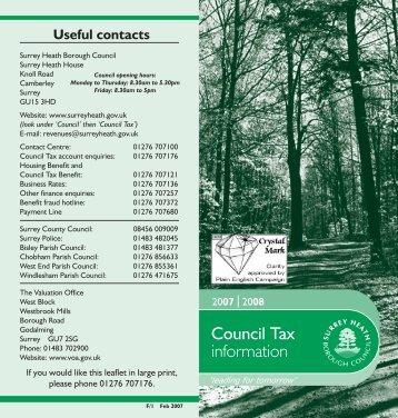 Text 06/07 latest - Surrey Heath Borough Council