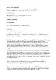 Bystyrets vedtak - Plan
