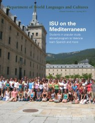 Spring 2011 - Department of World Languages and Cultures - Iowa ...