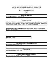 acte engagement maîtrise d'oeuvre - Mairie de Caveirac
