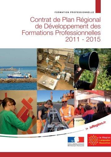 Contrat de Plan Régional des Formations Professionnelles 2011-2015