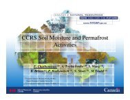 CCRS Soil Moisture and Permafrost Activities - SMAP