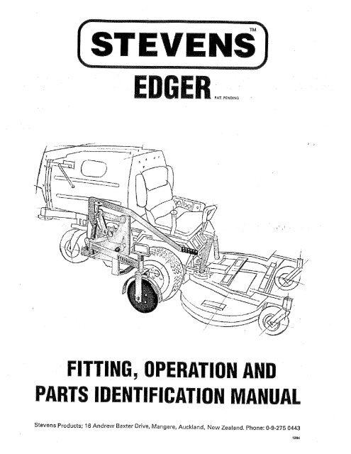 Stevens Edger - Walker Mowers