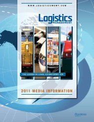 2011 Media infoRMation - Logistics Management