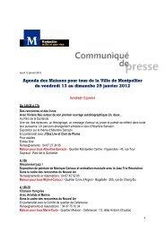 Agenda MPT du 13 au 29 janv 12 - Montpellier