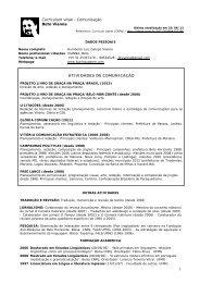 Curriculum vitae - Comunicação Beto Vianna ... - Biolinguagem