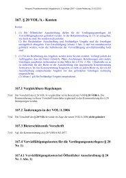 167. § 20 VOL/A - Kosten - Oeffentliche Auftraege