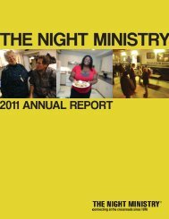 FY 2011 Annual Report - The Night Ministry