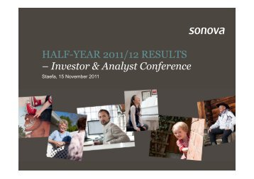 Presentation - Analysts/Investors - Sonova