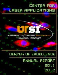 FY 2012 - Center for Laser Applications - The University of ...