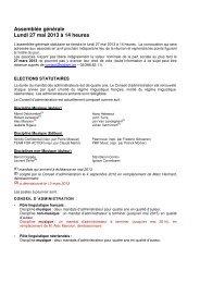 Assemblée générale Lundi 27 mai 2013 à 14 heures - SABAM.be
