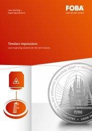 Timeless impressions - FOBA Laser Marking + Engraving   Alltec ...