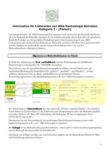 101020 Fleisch - Lieferantenerklärung