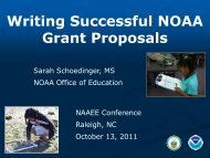 Writing Successful NOAA Grant Proposals - NOAA's Office of ...